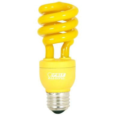 60W Equivalent Yellow Spiral CFL Light Bulb