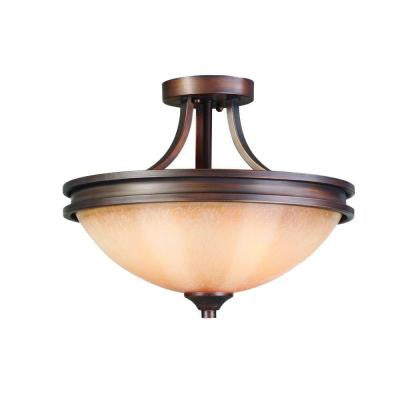 Holborn Collection 2-Light Sovereign Bronze Semi-Flush Mount Light