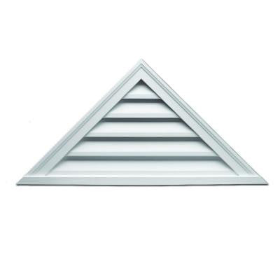48 in. x 22 in. x 2 in. Polyurethane Decorative Triangle Louver