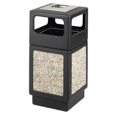 Evos 15 Gal. Ash Tray Steel and Stone Waste Receptacle