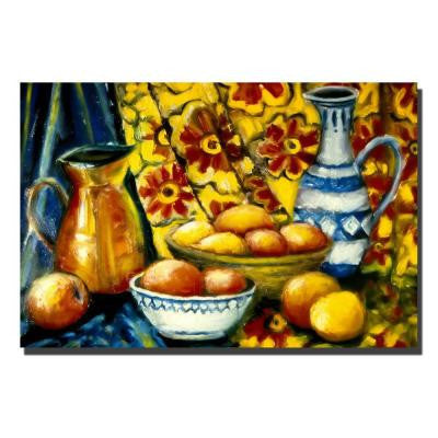 30 in. x 47 in. Still Life with Oranges Canvas Art