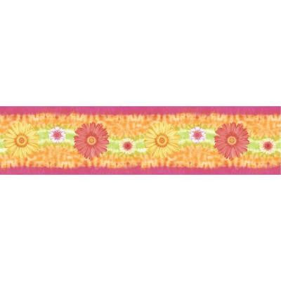 5 in. x 15 ft. Brightly Colored Daisy Border