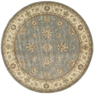 2000 Blue 4 ft. x 4 ft. Round Area Rug