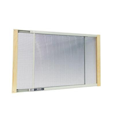 21 - 37 in. W x 18 in. H Wood Frame Adjustable Window Screen