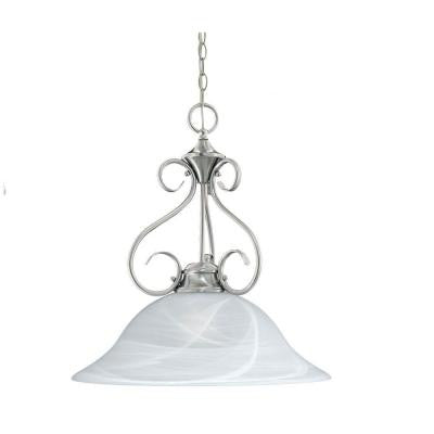 Essentials 1-Light Brushed Nickel Hanging Pendant