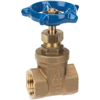 1 in. Lead Free Brass Threaded FPT x FPT Gate Valve
