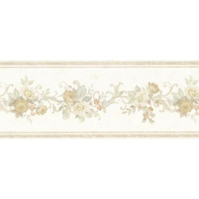 5 in. W x 180 in. H Lory Taupe Floral Border