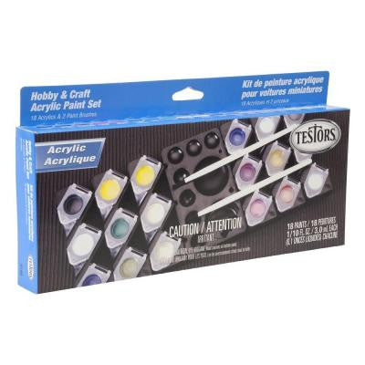 0.10 oz. 18-Color Acrylic Hobby and Craft Paint Pod Set (6-Pack)