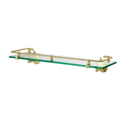 20.5 in. W Premier Railing Shelf in Brass