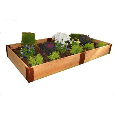 One Inch Series 4 ft. x 8 ft. x 12 in. Cedar Raised Garden Bed Kit