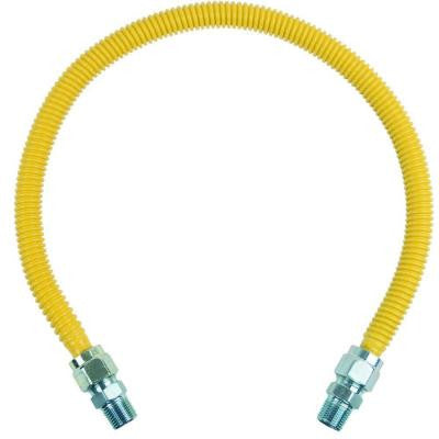 ProCoat 1/2 in. MIP x 1/2 in. MIP x 30 in. Stainless Steel Gas Connector 5/8 in. O.D. (136,000 BTU)