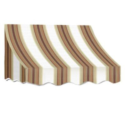 8 ft. Nantucket Window/Entry Awning (44 in. H x 36 in. D) in White/Linen/Terra Cotta Stripe