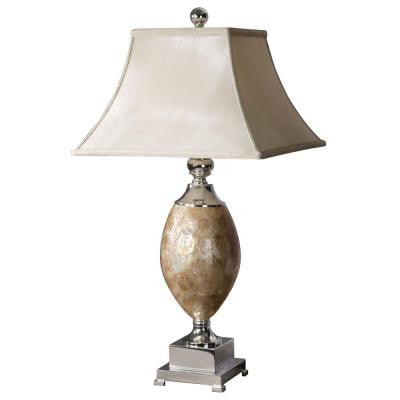 32 in. Multi Colored Mother of Pearl Table Lamp