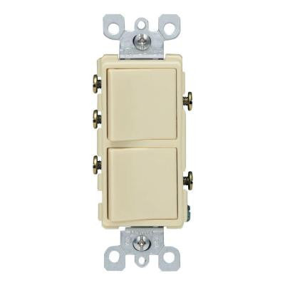 Decora 15 Amp 3-Way AC Combination Switch - Ivory