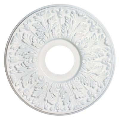 16 in. Victorian White Finish Ceiling Medallion