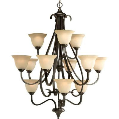 Torino Collection 12-Light Forged Bronze Chandelier