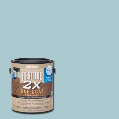 1 gal. 2X Blue Sky Solid Deck Stain with NeverWet