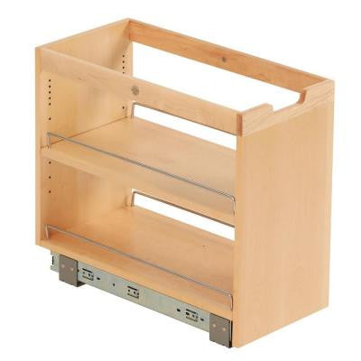 10-3/4x19-1/2x22-1/8 in. FINDIT Birch Kitchen Storage Cabinet Organization Pullout with Slide and Full Shelf