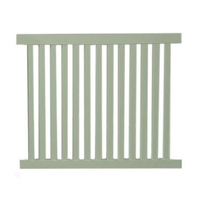 Dallas 4 ft. x 8 ft. Khaki Vinyl Pool Fence Panel