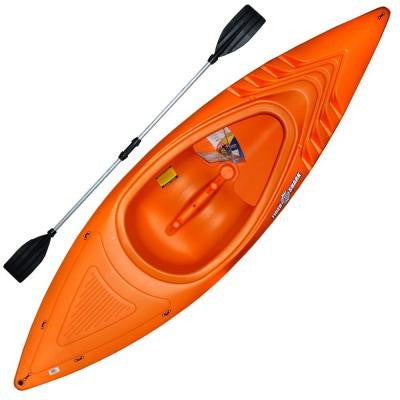 9 ft. 250 lb. Orange Shark Kayak with Deluxe Sport Paddles