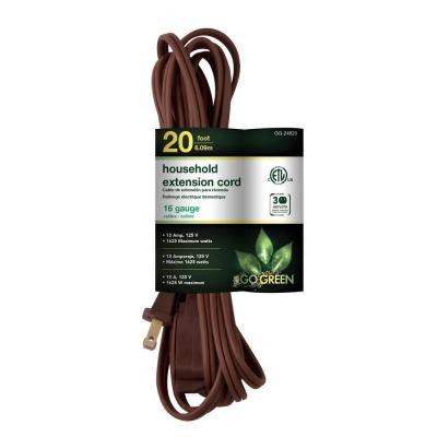 20 ft. 16/2 SPT-2 Household Extension Cord - Brown