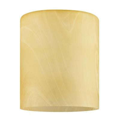 6 in. Handblown Amber Drum Neckless Glass Shade with 2-1/4 in. Fitter and 5 in. Width