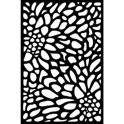 0.3 in. x 71 in. x 3.95 ft. Bloom Recycled Plastic Charcoal Decorative Screen