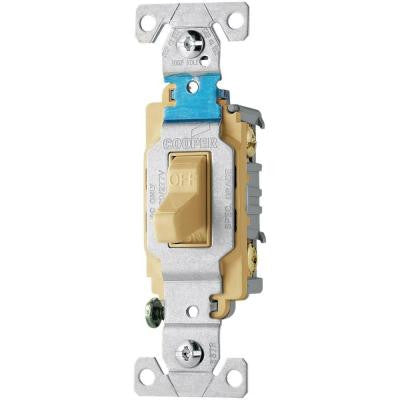 20 Amp 120/277-Volt Side Wire Compact Toggle Switch - Ivory