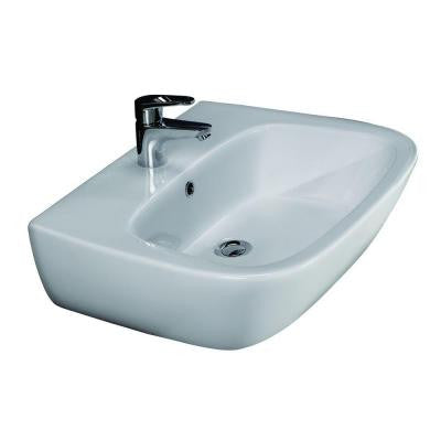 Elena 500 Wall-Hung Bathroom Sink in White