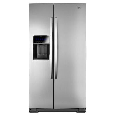 22.6 cu. ft. Side by Side Refrigerator in Monochromatic Stainless Steel, Counter Depth