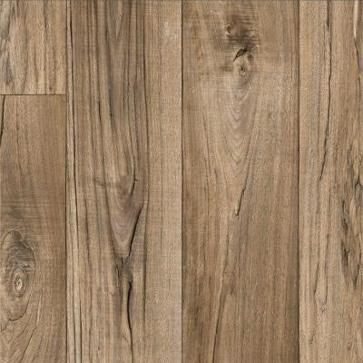 Rustic Weathered Oak Plank 13.2 ft. Wide Residential Vinyl Sheet x Your Choice Length