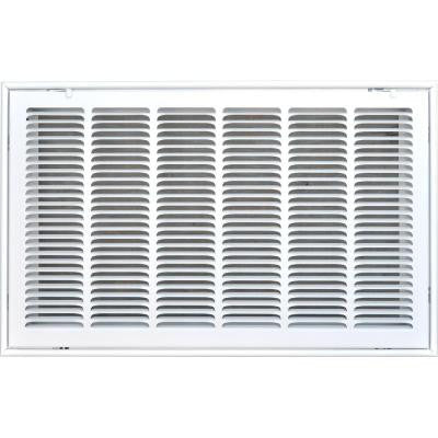24 in. x 14 in. Return Air Vent Filter Grille, White with Fixed Blades