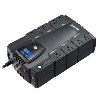 825-Volt 8-Outlet UPS Battery Backup with LCD Display