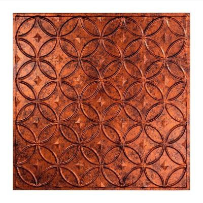 Rings - 2 ft. x 2 ft. Lay-in Ceiling Tile in Moonstone Copper