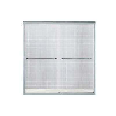 Finesse 57 in. x 55-3/4 in. Semi-Framed Sliding Shower Door in Silver