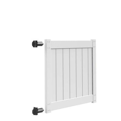 4 ft. x 4 ft. White Vinyl Walk Fence Gate Kit for Bryce and Washington Series Fences