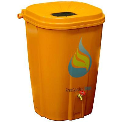 55 Gal. Terra Cotta Rain Barrel with Brass Spigot and Rain Barrel Kit