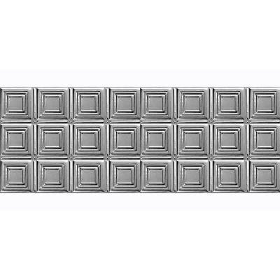 1-1/2 ft. x 4 ft. Nail-up/Direct Application Tin Ceiling Backsplash Tile in Stainless Steel (24 sq. ft. / case)