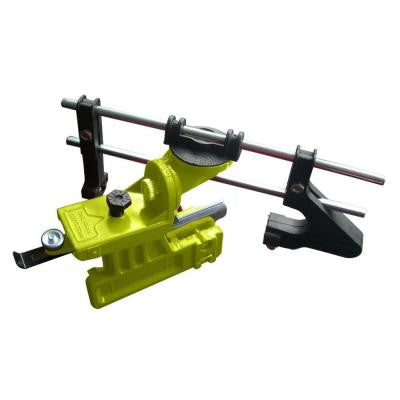 Manual Bar Mount Chainsaw Chain Sharpener with Accommodates 6 in. and 8 in. Files