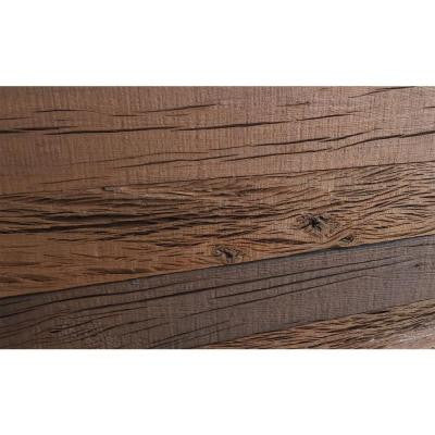 3D Holey Wood 3/8 in. x 4 in. x 24 in. Reclaimed Wood Decorative Wall Planks in Brown Color (10 sq. ft. / Case)