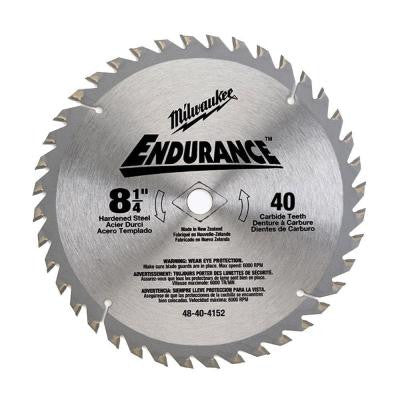 8-1/4 in. x 40 Carbide Tooth Circular Saw Blade