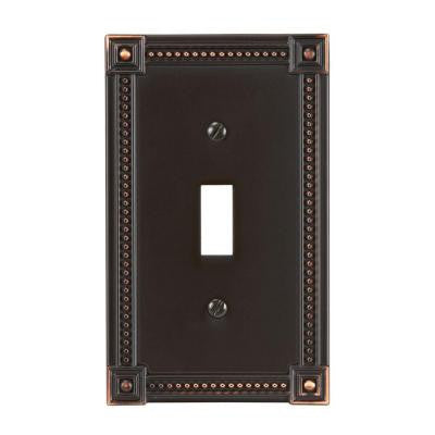 Traditional 1 Toggle Wall Plate - Aged Bronze