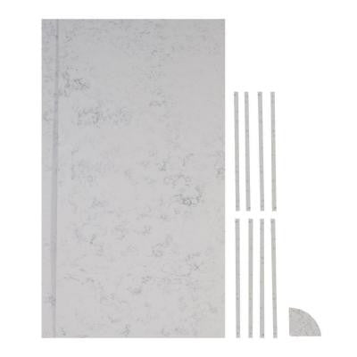 36 in. x 48 in. x 84 in. 11-piece Retro Fit Over Existing Shower Surround in Worthington White