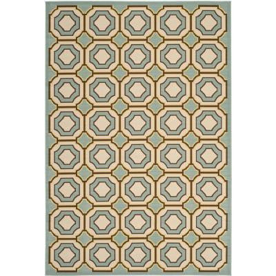 Hampton Light Blue/Ivory 8 ft. x 11 ft. Indoor/Outdoor Area Rug