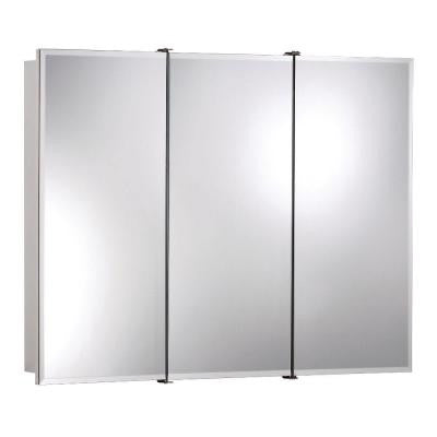 Ashland 36 in. W x 28 in. H x 4.75 in. D Surface-Mount Wood 3-Door Medicine Cabinet with 1/2 in. Beveled Mirror