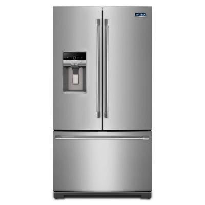 26.8 cu. ft. French Door Refrigerator in Monochromatic Stainless Steel