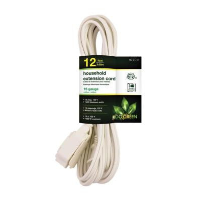 12 ft. 16/2 SPT-2 Household Extension Cord - White