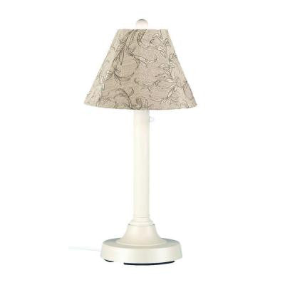 San Juan 30 in. Outdoor White Table Lamp with Bessemer Shade
