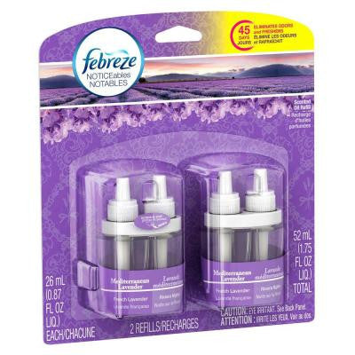 Noticeables 0.879 oz. Mediterranean Lavender Dual Scented Oil Refill (2-Pack)
