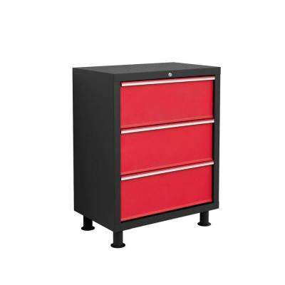 Bold Series 35 in. H x 26 in. W x 16 in. D 3-Drawer 24-Gauge Welded Steel Tool Chest in Red